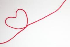 Secuencia roja del corazón Imagen de archivo libre de regalías