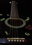Secuencias de la guitarra Imagen de archivo libre de regalías