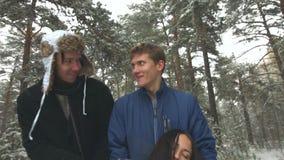 Secuestro de la muchacha en el bosque del invierno metrajes