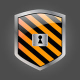 Secuirity shield with keyhole Stock Photography
