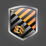 Secuirity shield with lock 1. Secuirity shield with lock. EPS 10. Vector illustration Royalty Free Stock Images