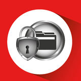 secuity system icon Stock Photo