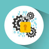 secuity system icon Royalty Free Stock Photos