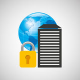 secuity system icon Royalty Free Stock Photography