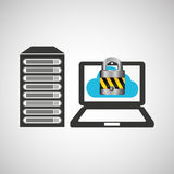 secuity system icon Stock Photos