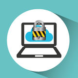 secuity system icon Stock Image