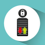 secuity system icon Royalty Free Stock Image