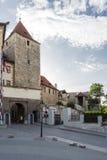 Secundaire ingang aan het paleis van Praag in de Oude Stad Royalty-vrije Stock Foto