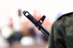 Secundario-máquina-arma Fotos de archivo libres de regalías