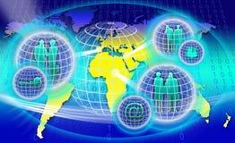 Сеть безопасного мира Стоковая Фотография RF