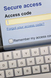 Secure access Stock Images