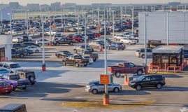 Secure Airport Parking Stock Images