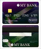 Secure bank card. Bank card and backside with the signature Royalty Free Stock Photo