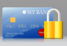 Secure bank card Royalty Free Stock Photos