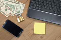 Secure business and finance concept Stock Photos