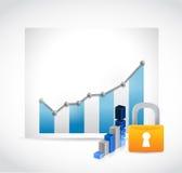 Secure business profits illustration design Stock Image
