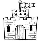 Secure castle sketch Royalty Free Stock Photo
