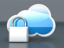 Secure cloud Royalty Free Stock Photo