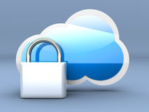 Secure cloud Stock Photos