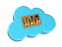 Secure cloud computing Stock Photo