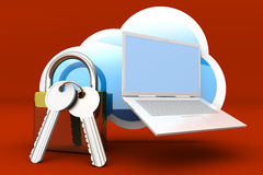 Secure cloud Royalty Free Stock Image