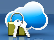 Secure cloud Royalty Free Stock Photography