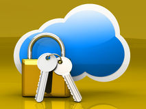 Secure cloud Stock Images