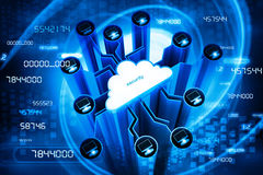 Secure cloud computing Stock Photos