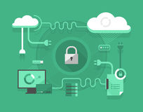 Secure Cloud Computing Stock Photography