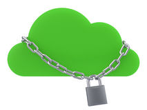 Secure Cloud Concept Royalty Free Stock Photos