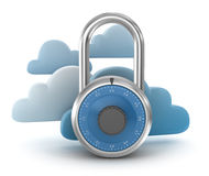 Secure Cloud Concept Royalty Free Stock Photography