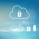 Secure Cloud Sky Royalty Free Stock Photo