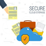Secure Cloud Storage Royalty Free Stock Image