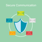 Secure communication concept illustration. Royalty Free Stock Photos