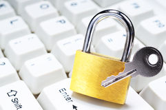 Secure computer from cybercrime. Stock Images