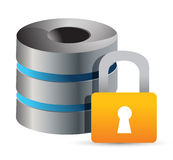 Secure Computer database Stock Image