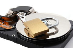 Secure computer hard disk drive Stock Images