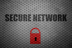 Secure computer network concept Stock Image