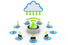 Secure computer network devices Royalty Free Stock Photo