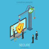 Secure computing technology flat isometric vector 3d Stock Photography