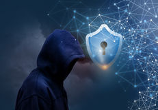 Secure connecting users. Secure connecting users concept design Stock Image