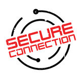Secure Connection rubber stamp Royalty Free Stock Images