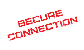 Secure Connection rubber stamp Stock Images