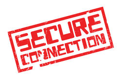 Secure Connection rubber stamp Stock Photo