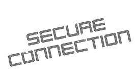 Secure Connection rubber stamp Royalty Free Stock Photos