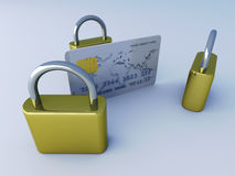 Secure Credit Card Stock Images