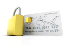 Secure Credit Card Royalty Free Stock Photo