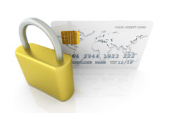 Secure Credit Card Stock Photo