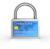 Secure credit card concept Royalty Free Stock Image