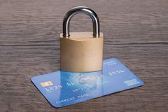 Secure credit card concept Stock Photo